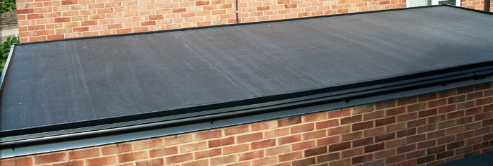 Flat roof made of rubber