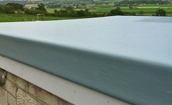 Smooth flat fibreglass roofing
